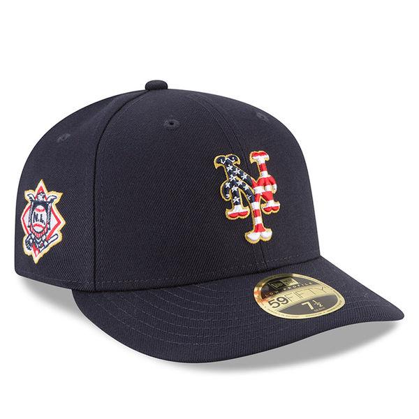 お取り寄せ MLB メッツ 59FIFTY キャップ ロー プロファイル 2018 スターズ & ストライプス ニューエラ/New Era ネイビー