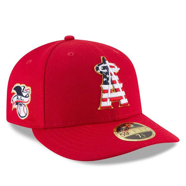 お取り寄せ MLB エンゼルス 59FIFTY キャップ ロー プロファイル 2018 スターズ & ストライプス ニューエラ/New Era レッド