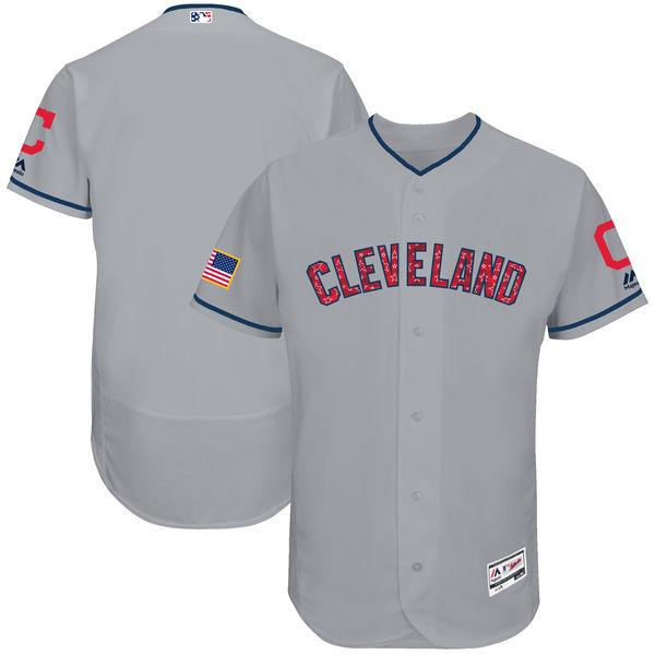 お取り寄せ MLB インディアンス 選手着用 ユニフォーム 2018 スターズ & ストライプス マジェスティック/Majestic