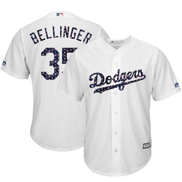 お取り寄せ MLB ドジャース コディ・ベリンジャー レプリカ ユニフォーム 2018 スターズ & ストライプス マジェスティック/Majestic
