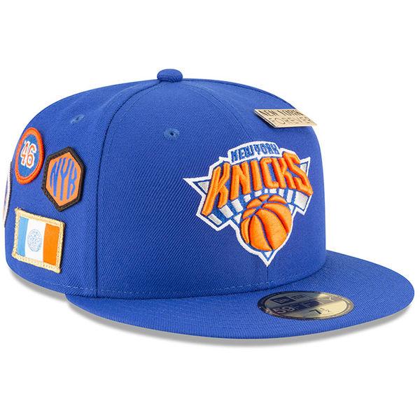 お取り寄せ NBA ニックス 59FIFTY フィッテッド キャップ/帽子 2018 ドラフト ニューエラ/New Era ブルー