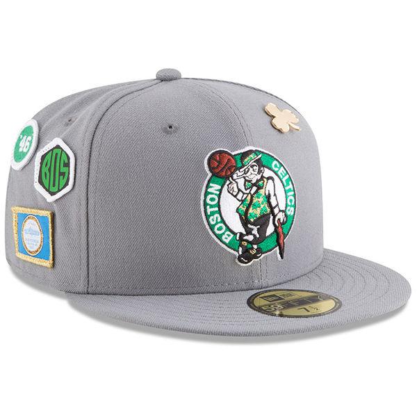 お取り寄せ NBA セルティックス 59FIFTY フィッテッド キャップ/帽子 2018 ドラフト ニューエラ/New Era グレー