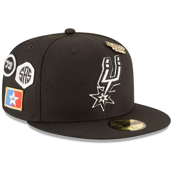 お取り寄せ NBA スパーズ 59FIFTY フィッテッド キャップ/帽子 2018 ドラフト ニューエラ/New Era ブラック