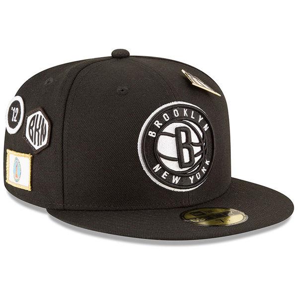 お取り寄せ NBA ネッツ 59FIFTY フィッテッド キャップ/帽子 2018 ドラフト ニューエラ/New Era ブラック