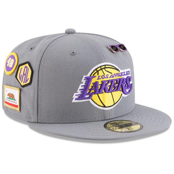 NBA レイカーズ 59FIFTY フィッテッド キャップ/帽子 2018 ドラフト ニューエラ/New Era グレー