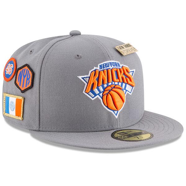 お取り寄せ NBA ニックス 59FIFTY フィッテッド キャップ/帽子 2018 ドラフト ニューエラ/New Era グレー