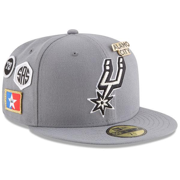 お取り寄せ NBA スパーズ 59FIFTY フィッテッド キャップ/帽子 2018 ドラフト ニューエラ/New Era グレー