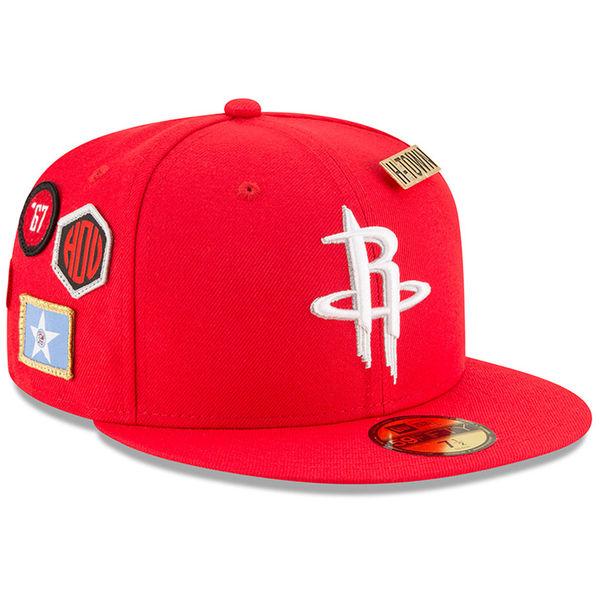 お取り寄せ NBA ロケッツ 59FIFTY フィッテッド キャップ/帽子 2018 ドラフト ニューエラ/New Era レッド
