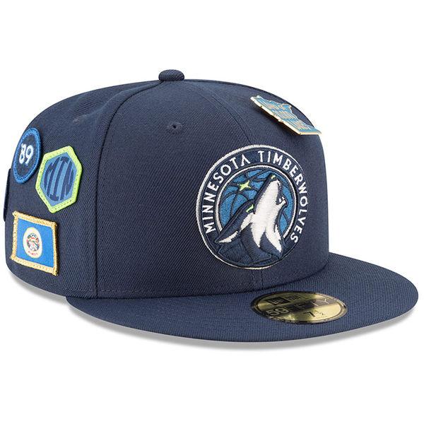 お取り寄せ NBA ティンバーウルブズ 59FIFTY フィッテッド キャップ/帽子 2018 ドラフト ニューエラ/New Era ネイビー