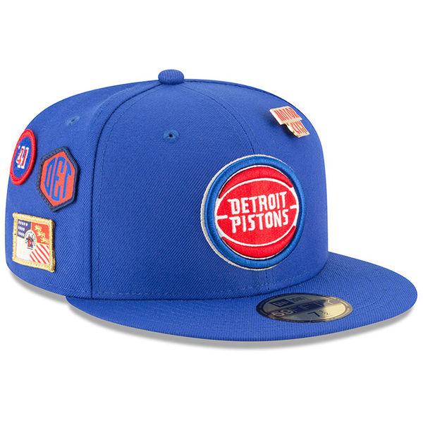 お取り寄せ NBA ピストンズ 59FIFTY フィッテッド キャップ/帽子 2018 ドラフト ニューエラ/New Era ブルー