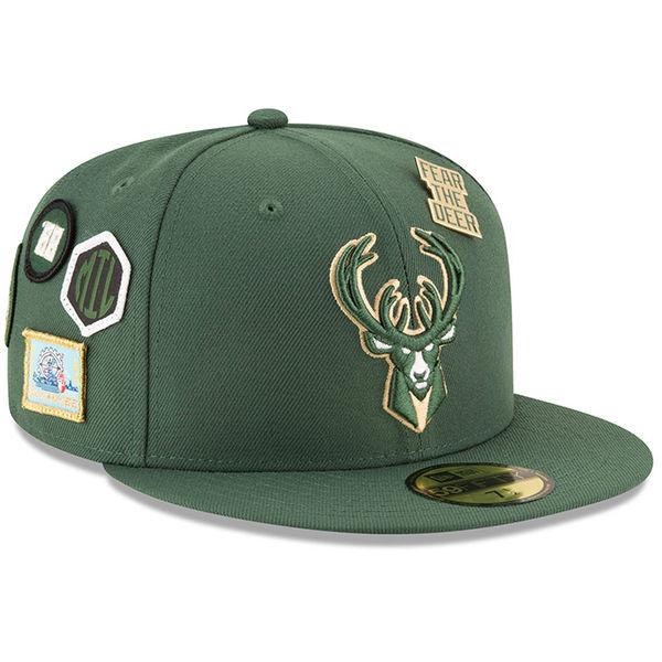 お取り寄せ NBA バックス 59FIFTY フィッテッド キャップ/帽子 2018 ドラフト ニューエラ/New Era グリーン