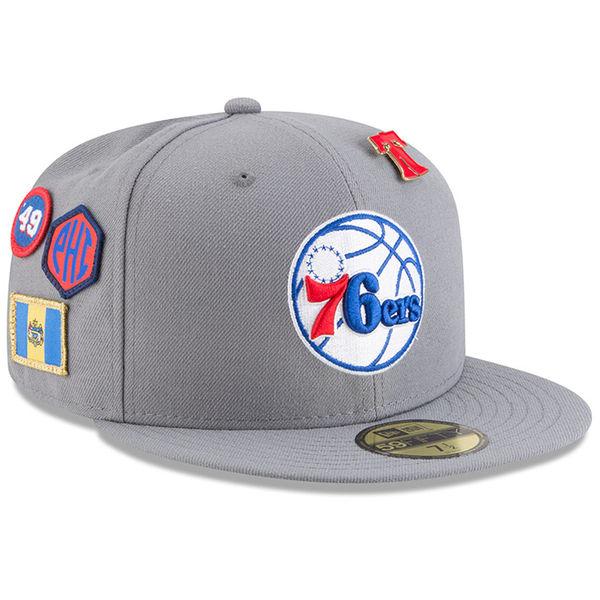 お取り寄せ NBA 76ers 59FIFTY フィッテッド キャップ/帽子 2018 ドラフト ニューエラ/New Era グレー