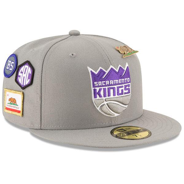 お取り寄せ NBA キングス 59FIFTY フィッテッド キャップ/帽子 2018 ドラフト ニューエラ/New Era グレー