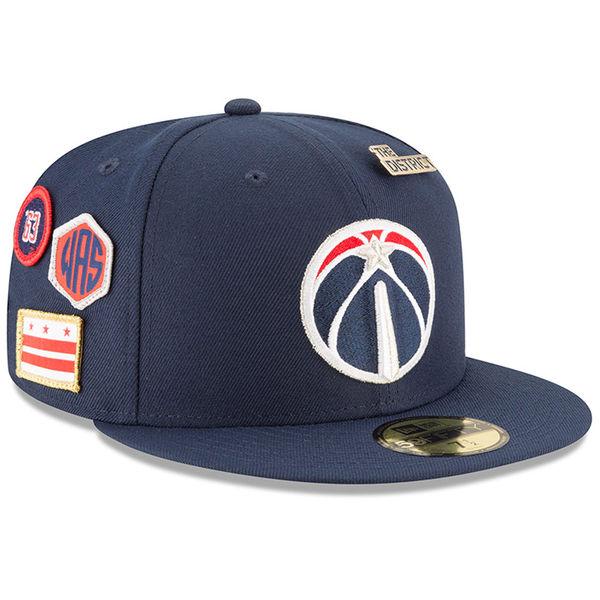 お取り寄せ NBA ウィザーズ 59FIFTY フィッテッド キャップ/帽子 2018 ドラフト ニューエラ/New Era ネイビー