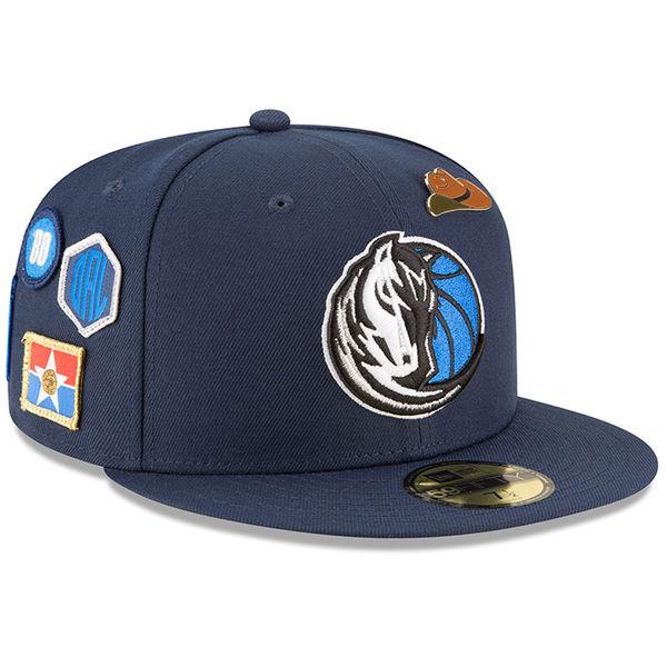 お取り寄せ NBA マーベリックス 59FIFTY フィッテッド キャップ/帽子 2018 ドラフト ニューエラ/New Era ブルー