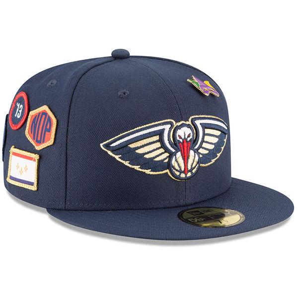 お取り寄せ NBA ペリカンズ 59FIFTY フィッテッド キャップ/帽子 2018 ドラフト ニューエラ/New Era ネイビー