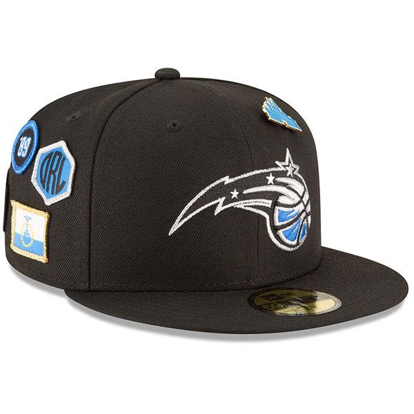 お取り寄せ NBA マジック 59FIFTY フィッテッド キャップ/帽子 2018 ドラフト ニューエラ/New Era ブラック