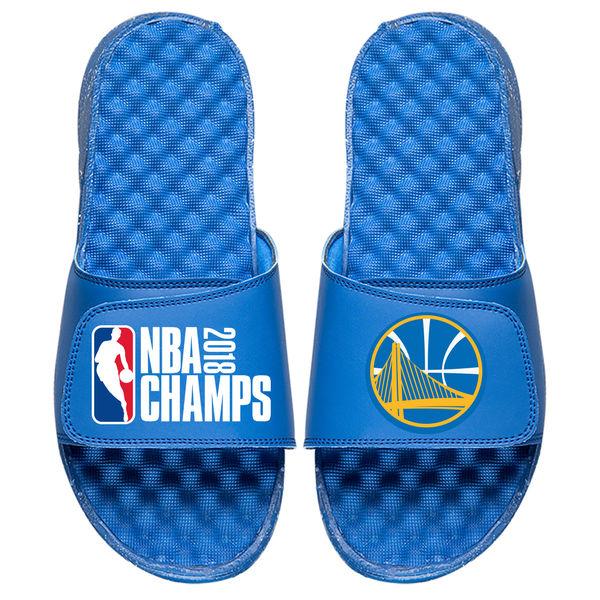 お取り寄せ NBA ウォリアーズ 2018 ファイナル優勝記念 スライド サンダル Islide ブルー