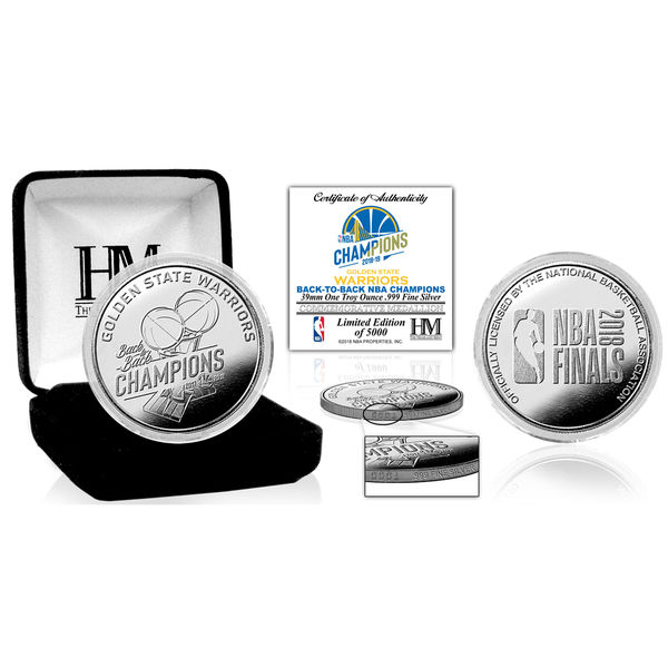 お取り寄せ NBA ウォリアーズ 2018 ファイナル優勝記念 ピュア シルバー コイン The Highland Mint
