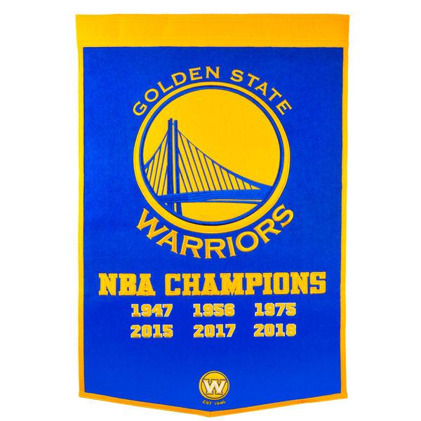 お取り寄せ NBA ウォリアーズ 2018 ファイナル優勝記念 ダイナシティ バナー/旗