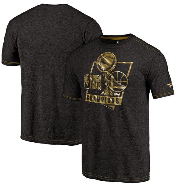 NBA ウォリアーズ 2018 ファイナル優勝記念 ゴールド トライブレンド Tシャツ 半袖 ブラック