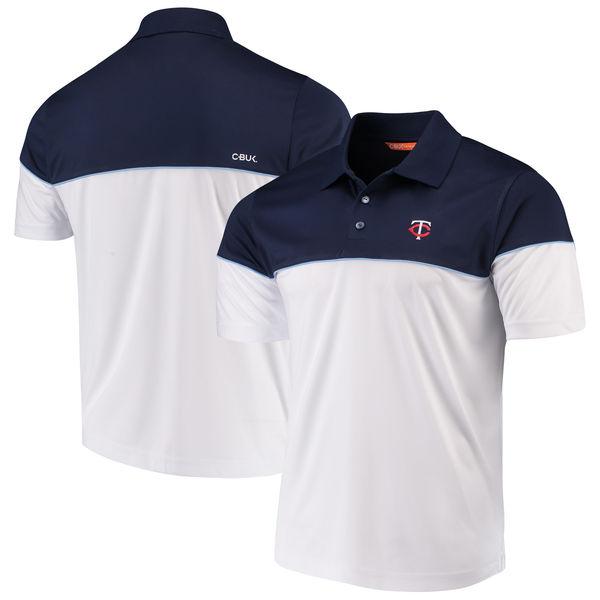 お取り寄せ MLB ツインズ ハリントン ポロシャツ カッター&バック/Cutter & Buck