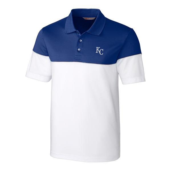 お取り寄せ MLB ロイヤルズ ハリントン ポロシャツ カッター&バック/Cutter & Buck
