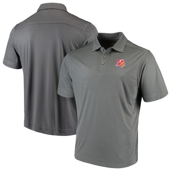 お取り寄せ NFL バッカニアーズ ビンテージ ドライテック ポロシャツ カッター&バック/Cutter & Buck グレー