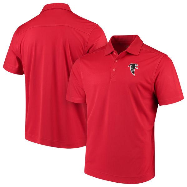 お取り寄せ NFL ファルコンズ ビンテージ ドライテック ポロシャツ カッター&バック/Cutter & Buck レッド