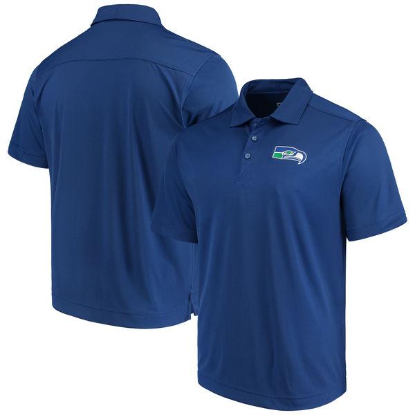 お取り寄せ NFL シーホークス ビンテージ ドライテック ポロシャツ カッター&バック/Cutter & Buck ロイヤル