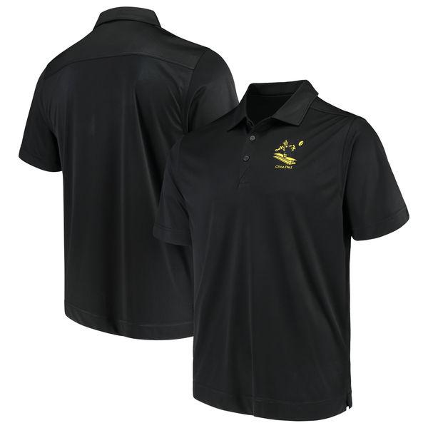 お取り寄せ NFL スティーラーズ ビンテージ ドライテック ポロシャツ カッター&バック/Cutter & Buck ブラック