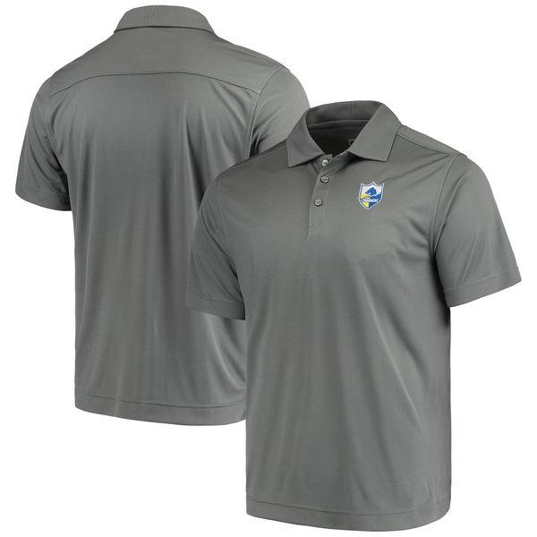 お取り寄せ NFL チャージャーズ ビンテージ ドライテック ポロシャツ カッター&バック/Cutter & Buck グレー