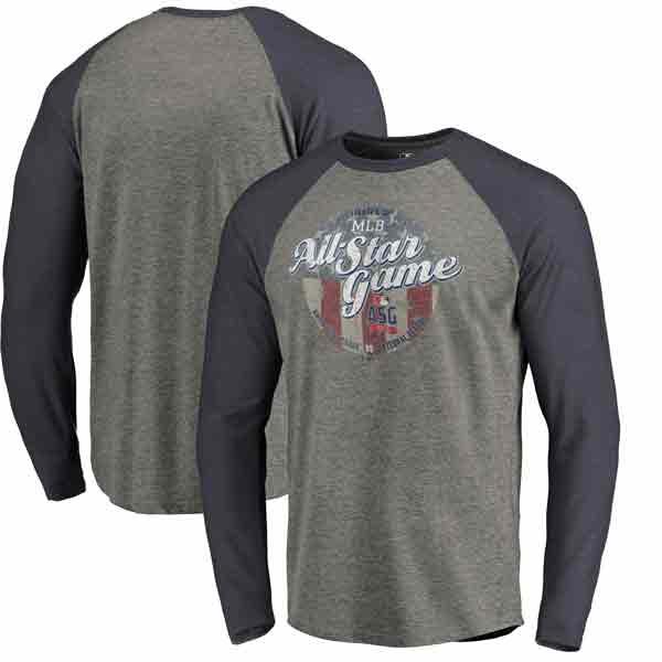 お取り寄せ MLB ロングTシャツ 2018 オールスターゲーム ヴィンテージ ラグラン