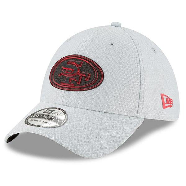 お取り寄せ NFL 49ers 選手着用 39THIRTY フレックス キャップ 2018 トレーニングキャンプ ニューエラ/New Era グレー
