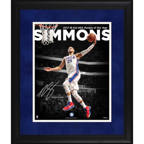 お取り寄せ NBA 76ers ベン・シモンズ フォトフレーム 2018 ルーキー・オブ・ザ・イヤー/新人王 記念