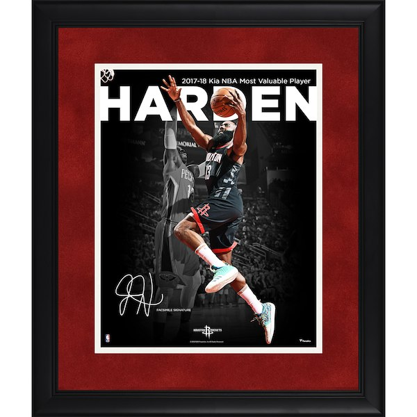 お取り寄せ NBA ロケッツ ジェイムス・ハーデン フォトフレーム 2018 MVP記念