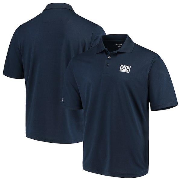 お取り寄せ NFL ジャイアンツ ポロシャツ スローバック アンティグア/Antigua ネイビー