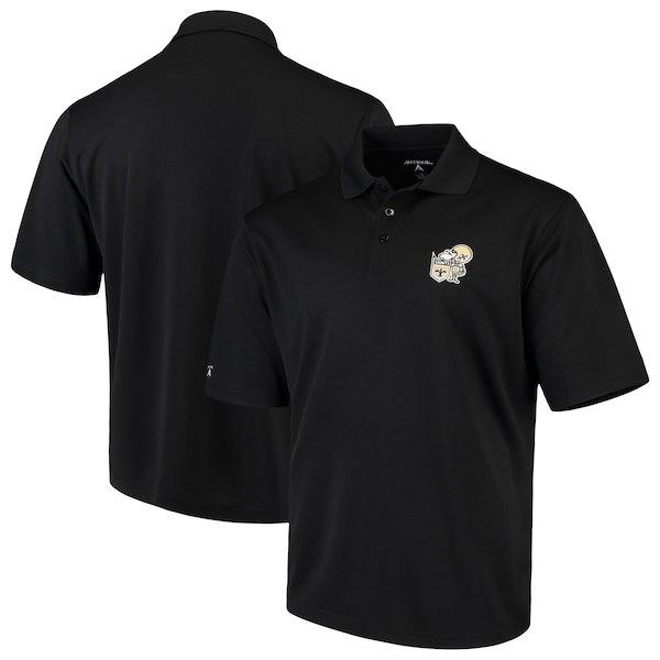 お取り寄せ NFL セインツ ポロシャツ スローバック アンティグア/Antigua ブラック