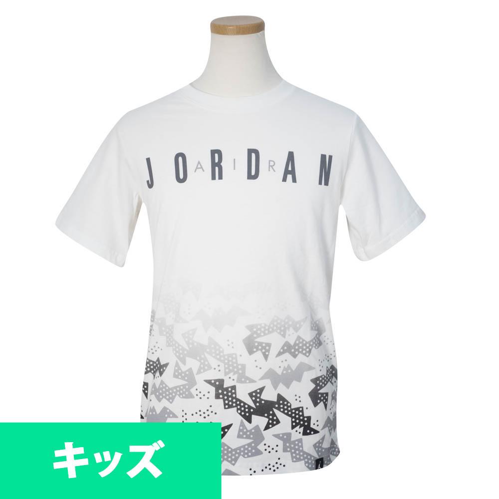 ナイキ ジョーダン/NIKE JORDAN キッズ Tシャツ 半袖 レトロ 13 ホワイト 9S3973-001【1910価格変更】