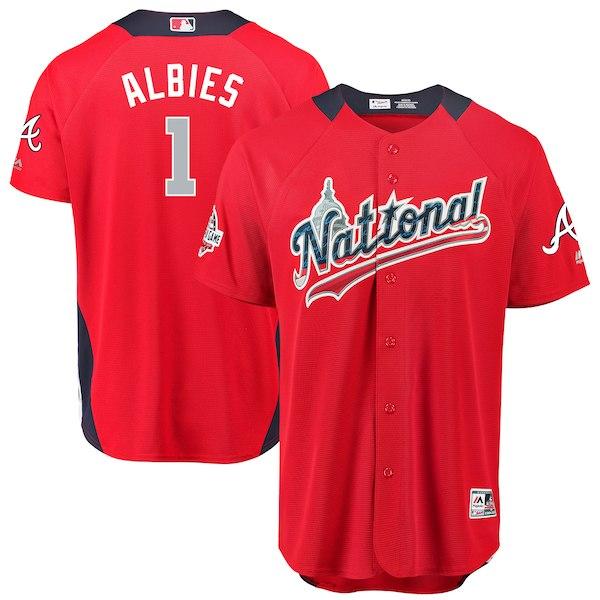 お取り寄せ MLB ナ・リーグ オジー・アルビーズ 2018 オールスターゲーム ホームランダービー ユニフォーム マジェスティック