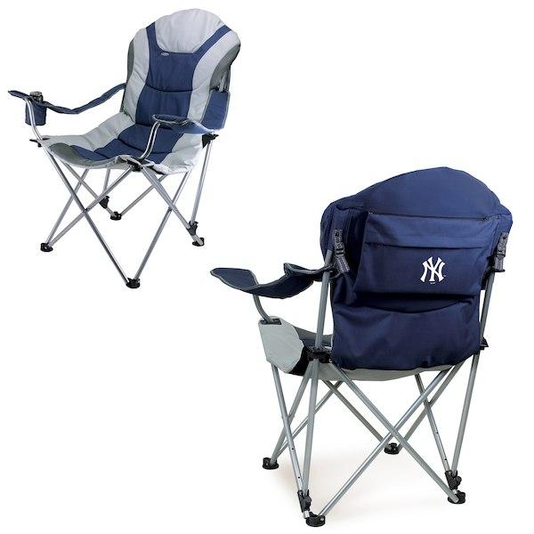 お取り寄せ MLB ヤンキース リクライニング キャンプ チェア ネイビー