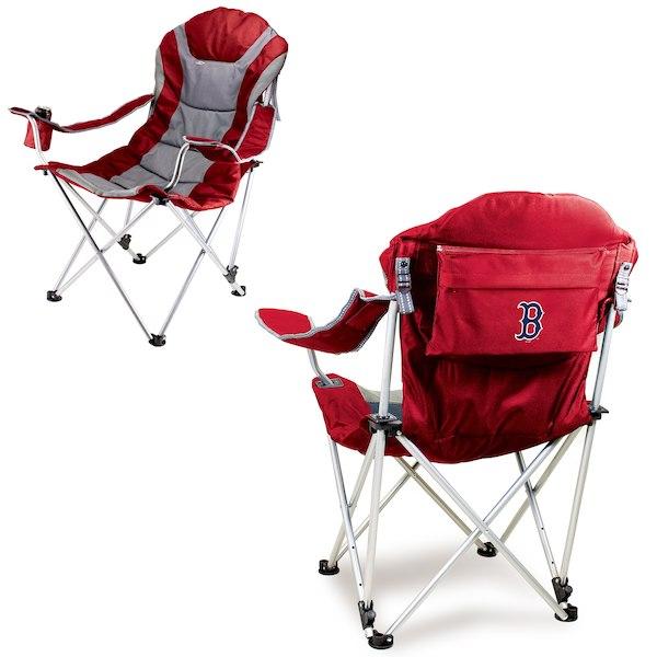 お取り寄せ MLB レッドソックス リクライニング キャンプ チェア レッド