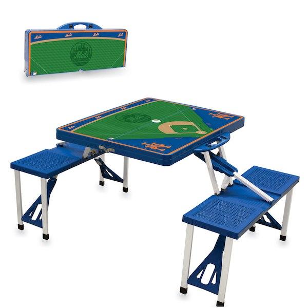 お取り寄せ MLB メッツ レジャー/アウトドア 折りたたみ テーブル ロイヤルブルー