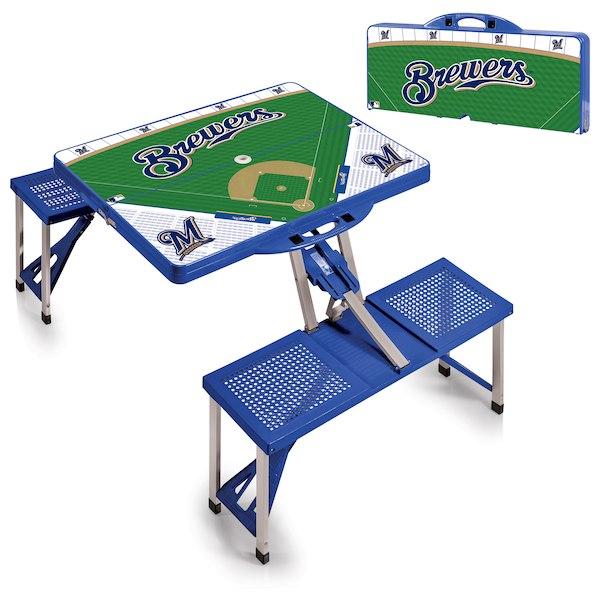 お取り寄せ MLB ブリュワーズ レジャー/アウトドア 折りたたみ テーブル ロイヤルブルー