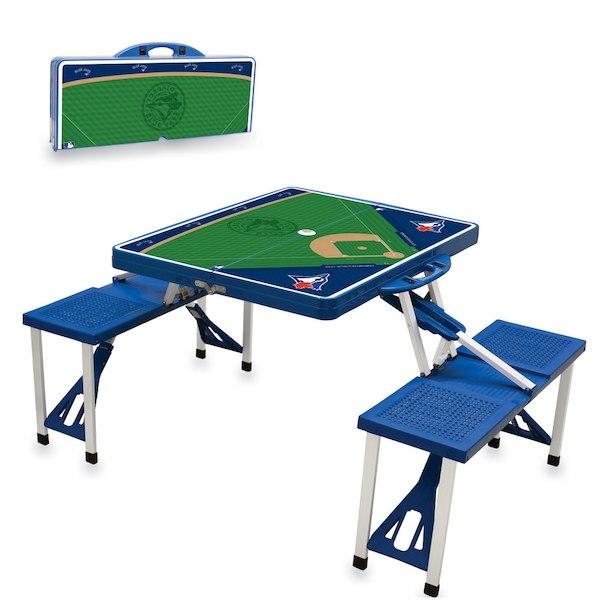 お取り寄せ MLB ブルージェイズ レジャー/アウトドア 折りたたみ テーブル ロイヤルブルー