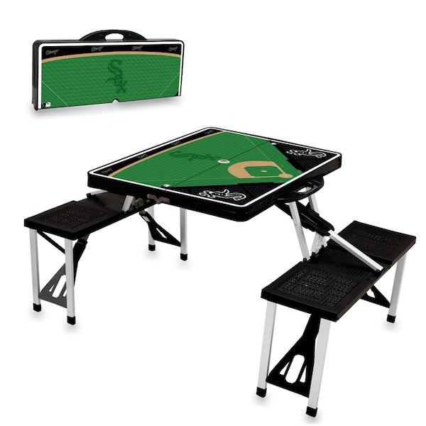 お取り寄せ MLB ホワイトソックス レジャー/アウトドア 折りたたみ テーブル ブラック
