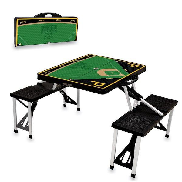 お取り寄せ MLB パイレーツ レジャー/アウトドア 折りたたみ テーブル ブラック