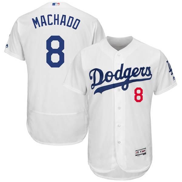 お取り寄せ MLB ロサンゼルス・ドジャース マニー・マチャド ユニフォーム/ジャージ 選手着用 マジェスティック/Majestic ホワイト