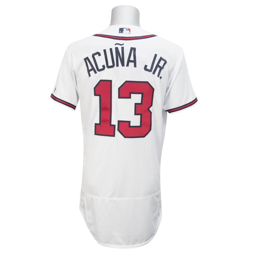 お取り寄せ MLB ブレーブス ロナルド・アクーニャ Jr. 選手着用 ユニフォーム/ユニホーム マジェスティック/Majestic ホーム 【日米野球MLB選抜】