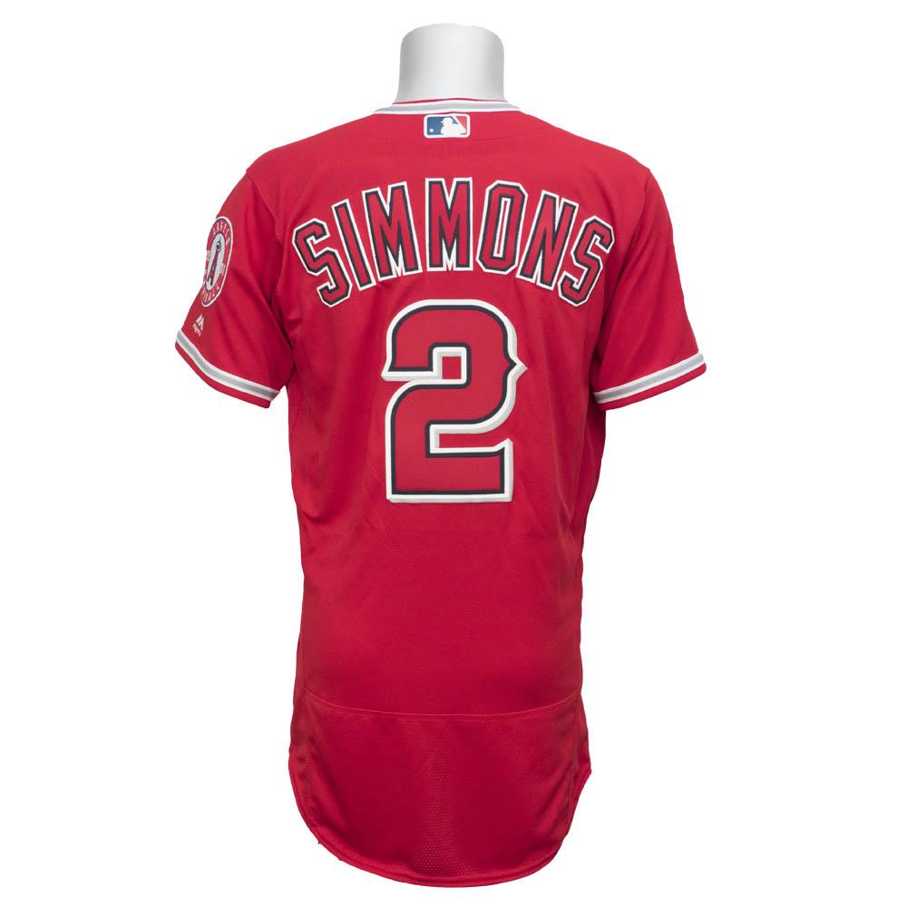 MLB エンゼルス アンドレルトン・シモンズ 選手着用 ユニフォーム/ユニホーム マジェスティック/Majestic オルタネート